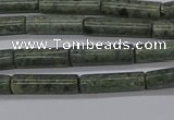 CTB337 15.5 inches 4*13mm tube green lace stone beads wholesale