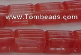 CTB508 15.5 inches 10*13mm triangle cherry quartz beads wholesale