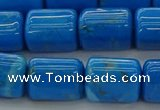 CTB538 15.5 inches 10*13mm triangle turquoise beads wholesale