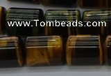 CTB541 15.5 inches 10*13mm triangle yellow tiger eye beads wholesale