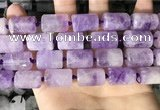 CTB652 15.5 inches 12*16mm faceted tube lavender amethyst beads