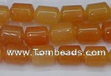CTB703 15.5 inches 6*8mm tube pink aventurine beads wholesale
