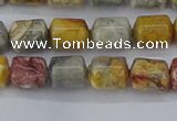 CTB711 15.5 inches 6*8mm tube sky eye stone beads wholesale