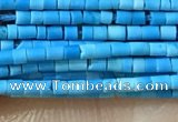 CTB803 15.5 inches 1mm tube turquoise beads wholesale