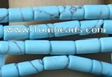 CTB805 15.5 inches 2*4mm tube turquoise beads wholesale