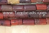 CTB815 15.5 inches 2*4mm tube red jasper beads wholesale