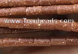 CTB821 15.5 inches 2*4mm tube goldstone beads wholesale