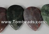 CTD07 Top drilled 22*30mm flat teardrop Indian agate beads
