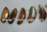CTD1534 Top drilled 30*65mm - 35*80mm freeform agate slab beads