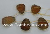 CTD1598 Top drilled 35*40mm - 35*45mm freeform agate beads
