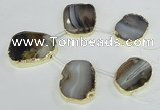 CTD1605 Top drilled 30*40mm - 35*45mm freeform montana agate beads