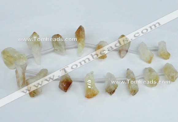 CTD1645 Top drilled 15*20mm - 18*35mm faceted nuggets citrine beads
