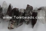 CTD1658 Top drilled 6*15mm - 8*35mm sticks green phantom quartz beads