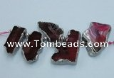 CTD1729 Top drilled 25*35mm - 30*45mm freeform agate slab beads