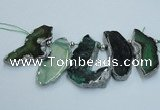 CTD1730 Top drilled 25*35mm - 30*45mm freeform agate slab beads