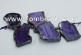 CTD1744 Top drilled 25*35mm - 35*55mm freeform agate slab beads