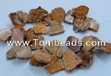 CTD1774 Top drilled 25*30mm - 40*50mm freeform sediment jasper beads