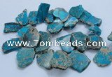 CTD1778 Top drilled 25*30mm - 40*50mm freeform sediment jasper beads