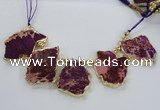CTD1902 Top drilled 25*30mm - 35*45mm freeform sediment jasper beads