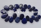 CTD1921 Top drilled 18*25mm - 25*40mm freeform lapis lazuli beads