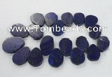 CTD1922 Top drilled 25*35mm - 40*50mm freeform lapis lazuli beads