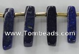 CTD1923 Top drilled 6*20mm - 8*45mm sticks lapis lazuli beads