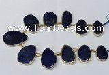 CTD1928 Top drilled 18*25mm - 25*40mm freeform lapis lazuli beads