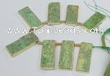 CTD1946 Top drilled 18*45mm - 20*50mm rectangle sea sediment jasper beads