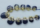 CTD1963 Top drilled 20*25mm - 25*35mm freeform lapis lazuli beads