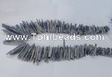 CTD1978 Top drilled 5*20mm � 8*45mm sticks blue Kyanite beads