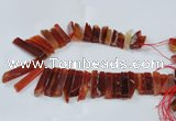 CTD1983 Top drilled 8*25mm - 10*50mm sticks agate gemstone beads