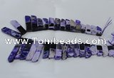 CTD1986 Top drilled 10*25mm - 12*50mm sticks agate gemstone beads