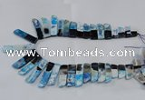 CTD1988 Top drilled 10*25mm - 12*50mm sticks agate gemstone beads