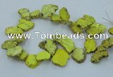 CTD2009 Top drilled 20*25mm - 30*35mm freeform turquoise beads
