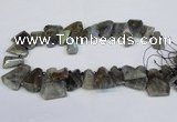 CTD2103 Top drilled 15*25mm - 25*30mm freeform labradorite beads