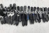 CTD2115 Top drilled 10*25mm - 12*45mm sticks labradorite beads
