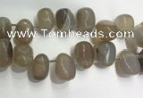 CTD2120 Top drilled 15*25mm - 18*25mm freeform agate beads