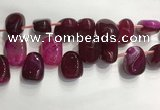 CTD2123 Top drilled 15*25mm - 18*25mm freeform agate beads