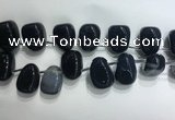 CTD2133 Top drilled 15*25mm - 18*25mm freeform agate beads