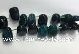 CTD2134 Top drilled 15*25mm - 18*25mm freeform agate beads