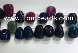 CTD2135 Top drilled 15*25mm - 18*25mm freeform agate beads