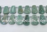 CTD2269 Top drilled 16*28mm - 20*30mm faceted freeform amazonite beads