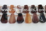 CTD2277 Top drilled 16*28mm - 20*30mm faceted freeform agate beads