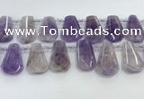 CTD2338 Top drilled 16*18mm - 20*30mm freeform lavender amethyst beads