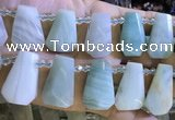CTD2341 Top drilled 16*18mm - 20*30mm faceted freeform amazonite beads