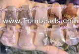 CTD2344 Top drilled 16*18mm - 20*30mm freeform sakura agate beads