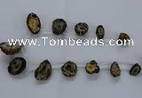 CTD2501 Top drilled 15*20mm - 25*35mm freeform druzy agate beads