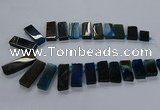 CTD2545 Top drilled 12*20mm - 15*40mm rectangle agate gemstone beads