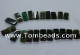 CTD2546 Top drilled 12*20mm - 15*40mm rectangle agate gemstone beads