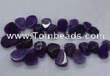 CTD2550 Top drilled 18*25mm - 30*40mm freeform agate gemstone beads
